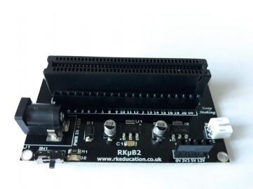 RKub2 Powered Edge Connector Breakout Board for BBC micro:bit - Constructed